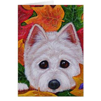 Cute Westie Dog West Highland Terrier Creationarts Greeting Card