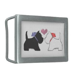 Cute Westie Dogs Art Belt Buckles