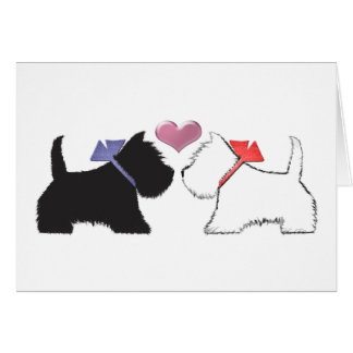 Cute Westie Dogs Art Card