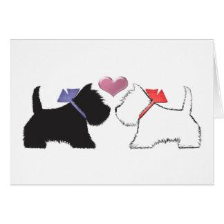 Cute Westie Dogs Art Card