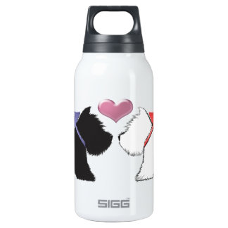 Cute Westie Dogs Art Thermos Bottle