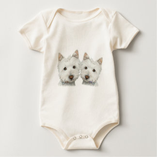 Cute Westie Dogs Baby Clothing Romper