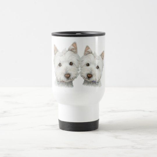 Cute Westie Dogs Travel Mug
