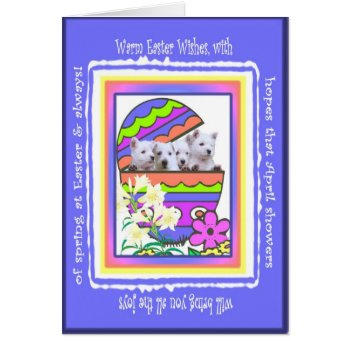 Cute Westie Happy Easter Wishes Card by 4westies at Zazzle