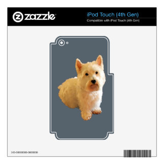 CUTE WESTIE iPod TOUCH 4G DECAL