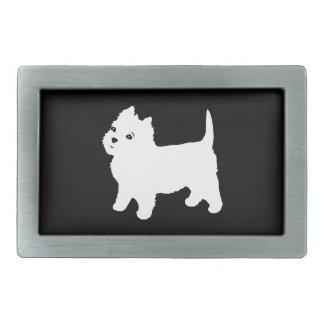 Cute Westie - West Highland White Terrier Rectangular Belt Buckles