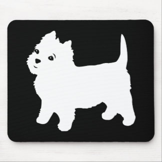 Cute Westie - West Highland White Terrier Mouse Pad
