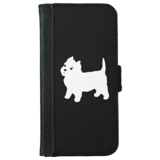 Cute Westie - West Highland White Terrier Wallet Phone Case For iPhone 6/6s