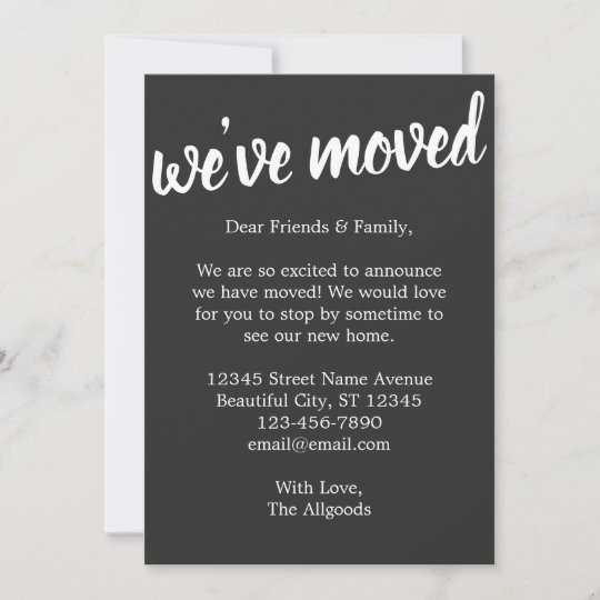 Cute We Ve Moved House Black Moving Announcement