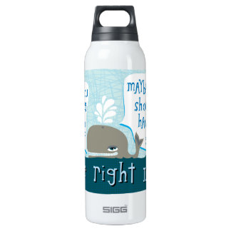 cute whale 16 oz insulated SIGG thermos water bottle