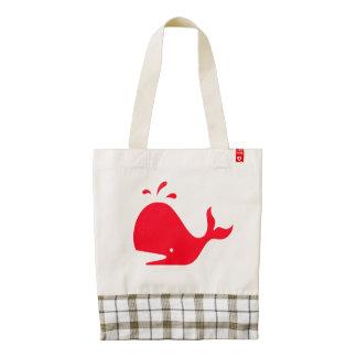 Cute Whale 4Marie Zazzle HEART Tote Bag
