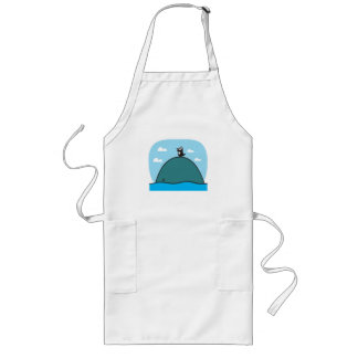 cute whale and penguin apron