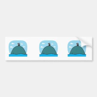 cute whale and penguin bumper sticker