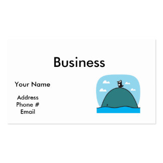 cute whale and penguin Double-Sided standard business cards (Pack of 100)