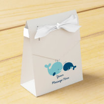 Cute Whale Baby Shower Favor Box