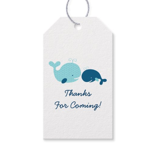 Cute Whale Baby Shower Gift Tags