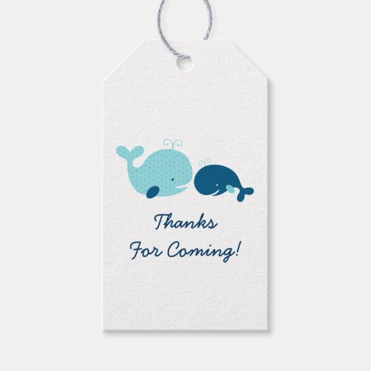 cute whale baby shower gift tags  zazzle, Baby shower