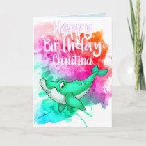 Cute Whale Birthday Card
