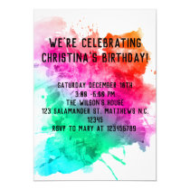 Cute Whale Birthday Party Invitation