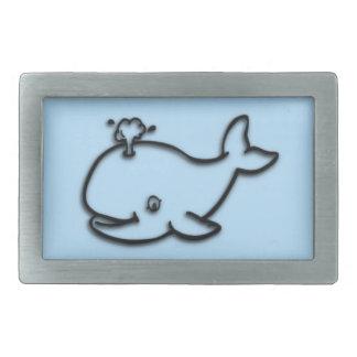 Cute Whale Blue Belt Buckle
