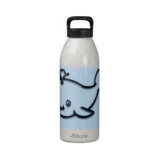 Cute Whale Blue Reusable Water Bottles