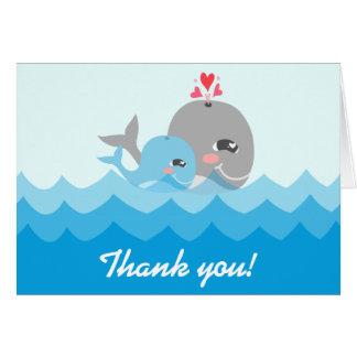 Cute Whale Boy Baby Shower Card