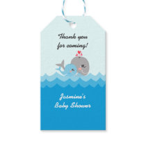 Cute Whale Boy Baby Shower Gift Tags