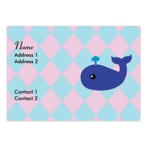 Cute Whale Business Cards