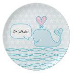 Cute Whale Dinner Plates
