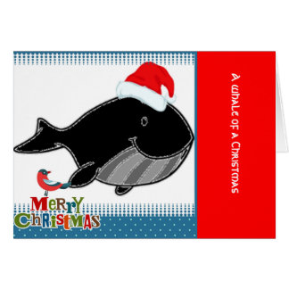 Cute Whale Holiday Greeting Card
