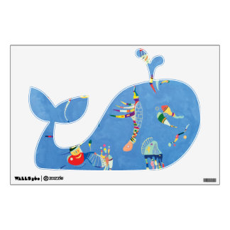 Cute Whale in Sky Blue Wall Decal