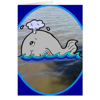 Cute Whale in the Water Greeting Card