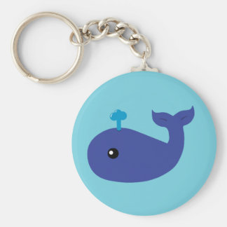 Cute Whale Keychain