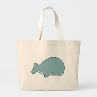 Cute Whale Large Tote Bag