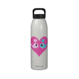Cute Whale Love Reusable Water Bottles