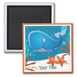 Cute Whale  Ocean Aquatic Custom Magnet