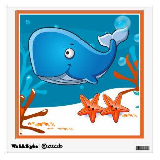 Cute Whale Ocean Aquatic Wall Decal