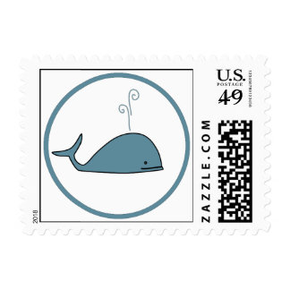 Cute Whale Postage Stamp