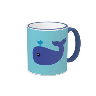 Cute Whale Ringer Coffee Mug