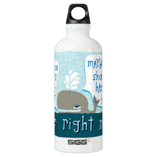cute whale SIGG traveler 0.6L water bottle