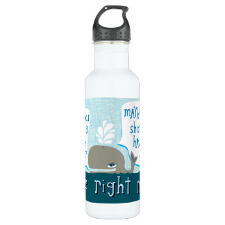 cute whale stainless steel water bottle