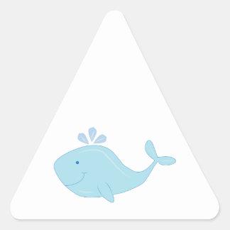 Cute Whale Triangle Stickers