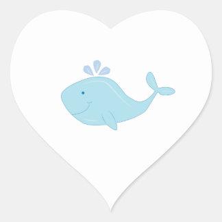 Cute Whale Heart Stickers