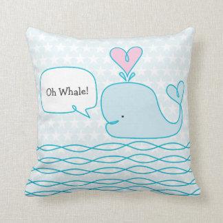 Cute Whale Throw Pillow