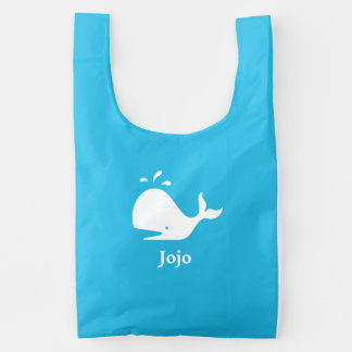 Cute Whale w/ Spout 4Derek Reusable Bag