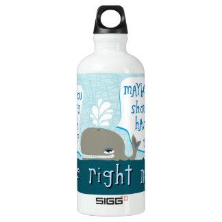 cute whale water bottle