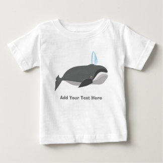 Cute Whale With Custom Text Baby T-Shirt