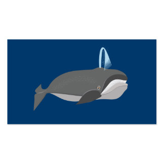 Cute Whale With Custom Text Business Card