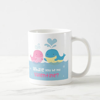 Cute Whale You Be Mine Valentine Love Coffee Mug