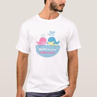 Cute Whale You Be Mine Valentine Love T-Shirt